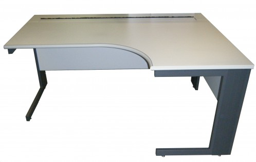 Used grey crescent desk